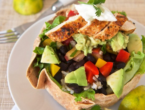 Chicken taco bowl salad