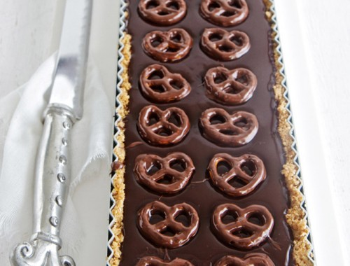 Chocolate and Pretzel Tart