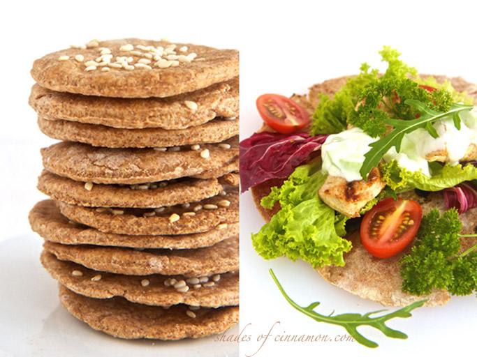 Spelt crackers and flatbread