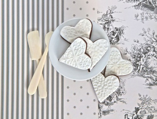 Cocoa shortbread biscuits