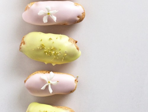 Lemon and Lime and Rosewater Eclairs