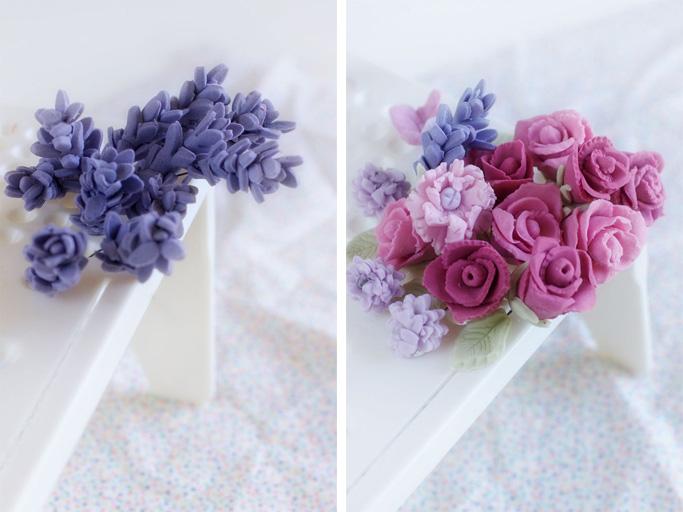 Vintage fondant flowers