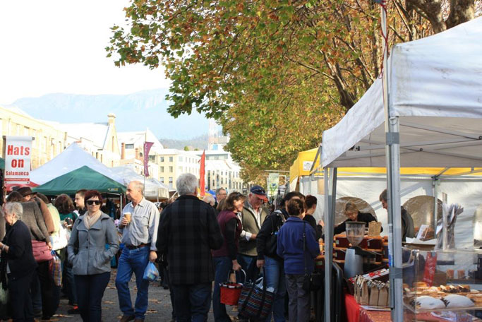 Salamanca market stalls