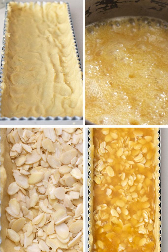 Making an almond tart