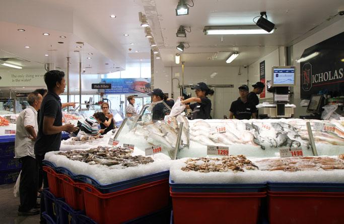 Sydney Fish Market scenes