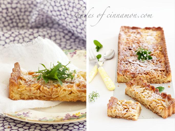 Almond slice tart