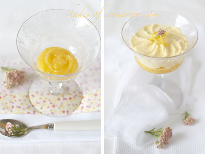 Lemon curd and mascarpone mousse