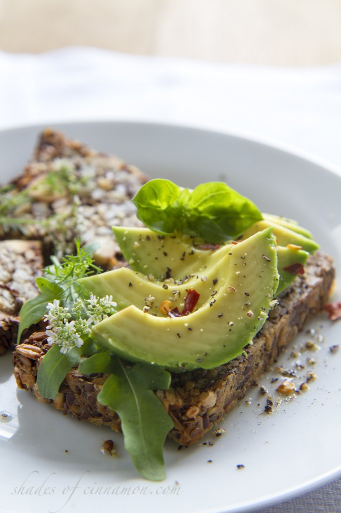 Gluten free seed and nut loaf with avocado