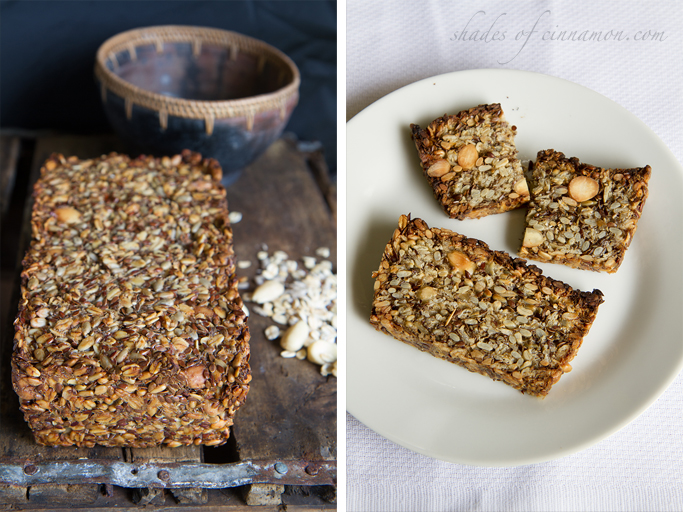 Gluten free nut and seed bread
