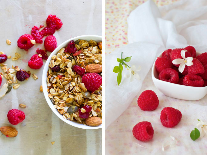 breakfast-granola-and-Raspberries