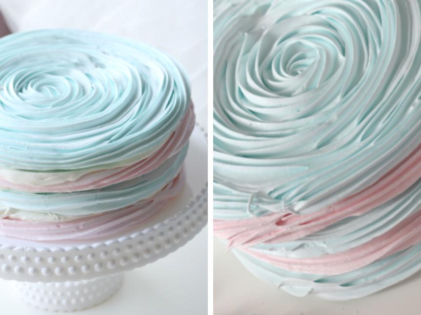 Pastel Meringue Cake