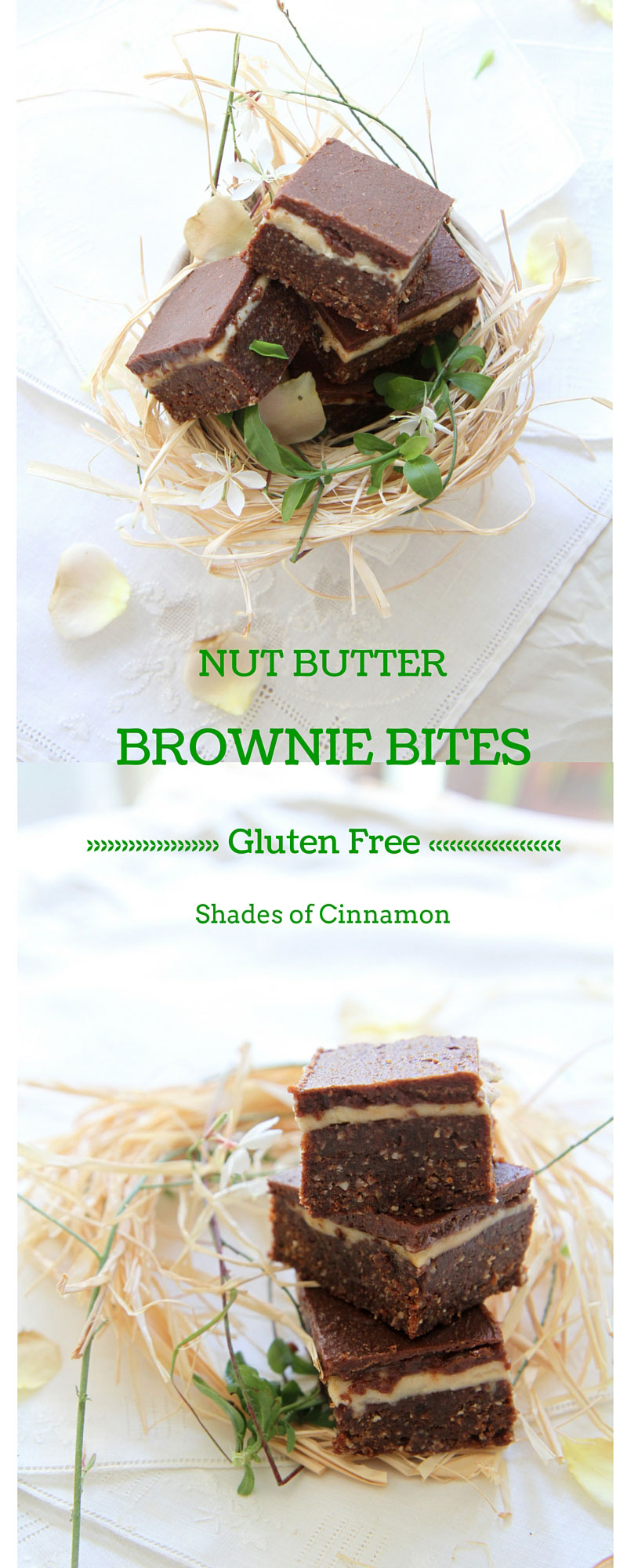 Gluten free and vegan nut butter brownies