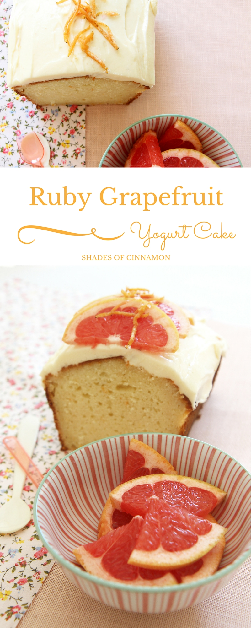 Yogurt and grapefruit cake