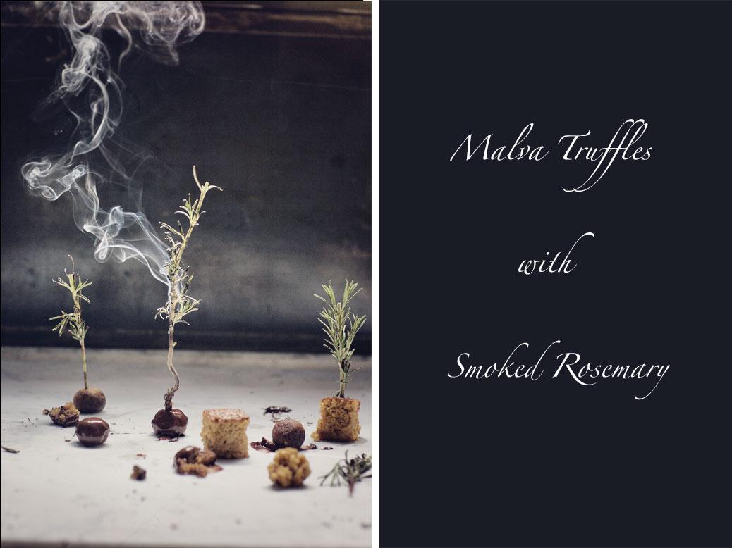 JAN Malva Truffles with Smoked Rosemary