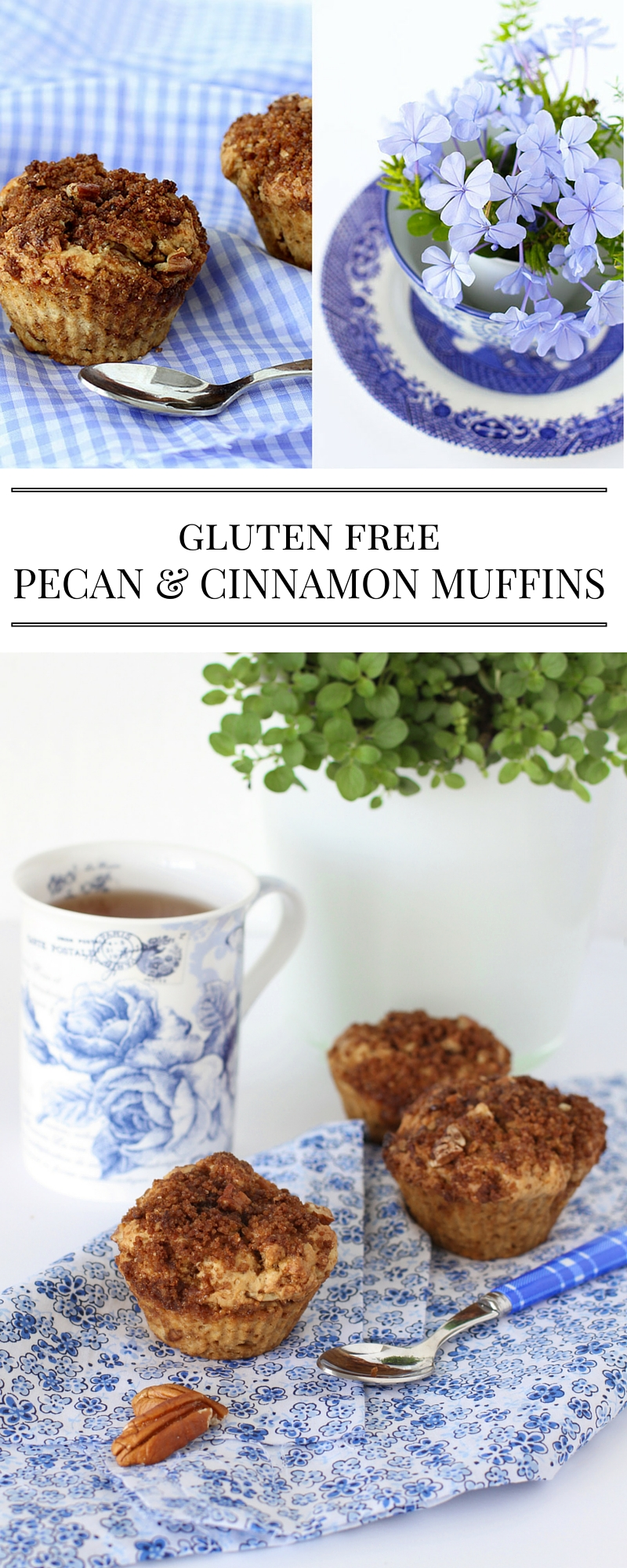 gluten free pecan and cinnamon muffins