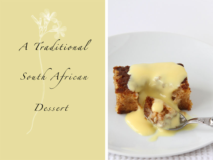 South African dessert Malva Pudding