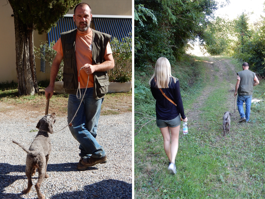 Truffle hunting in Tuscany