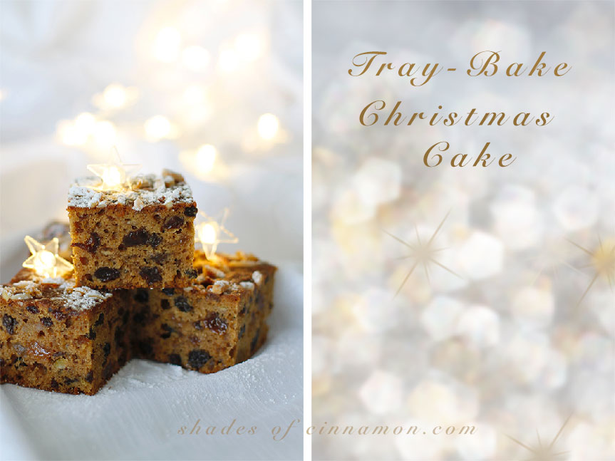 Tray bake christmas cake