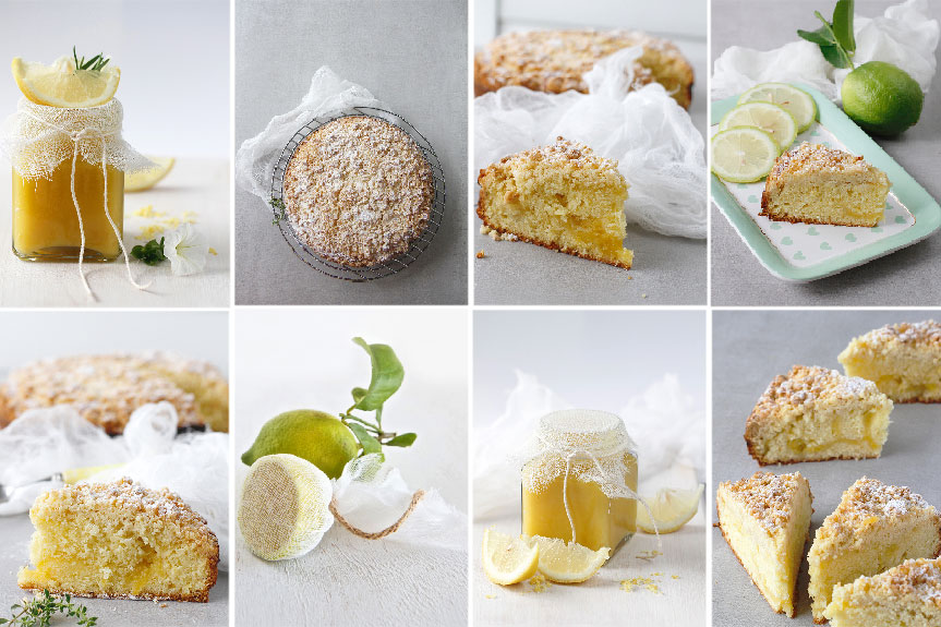 Coffee cake with lemon curd