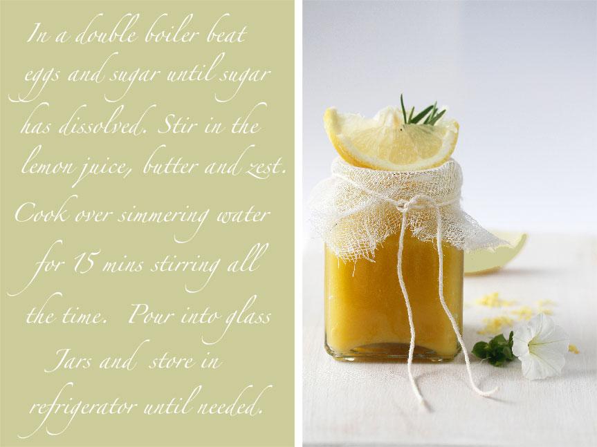 Lemon curd shades of cinnamon