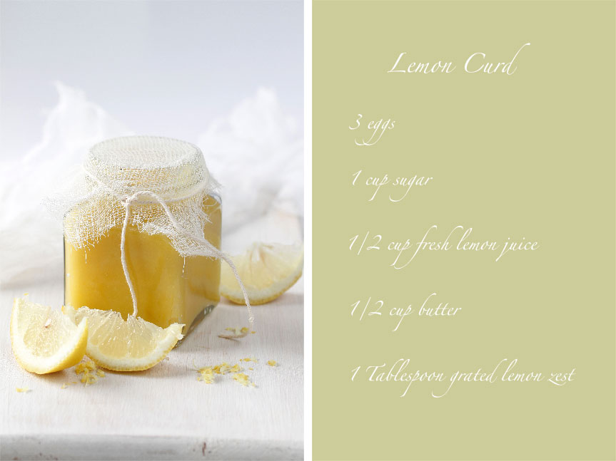 Shades of cinnamon lemon curd