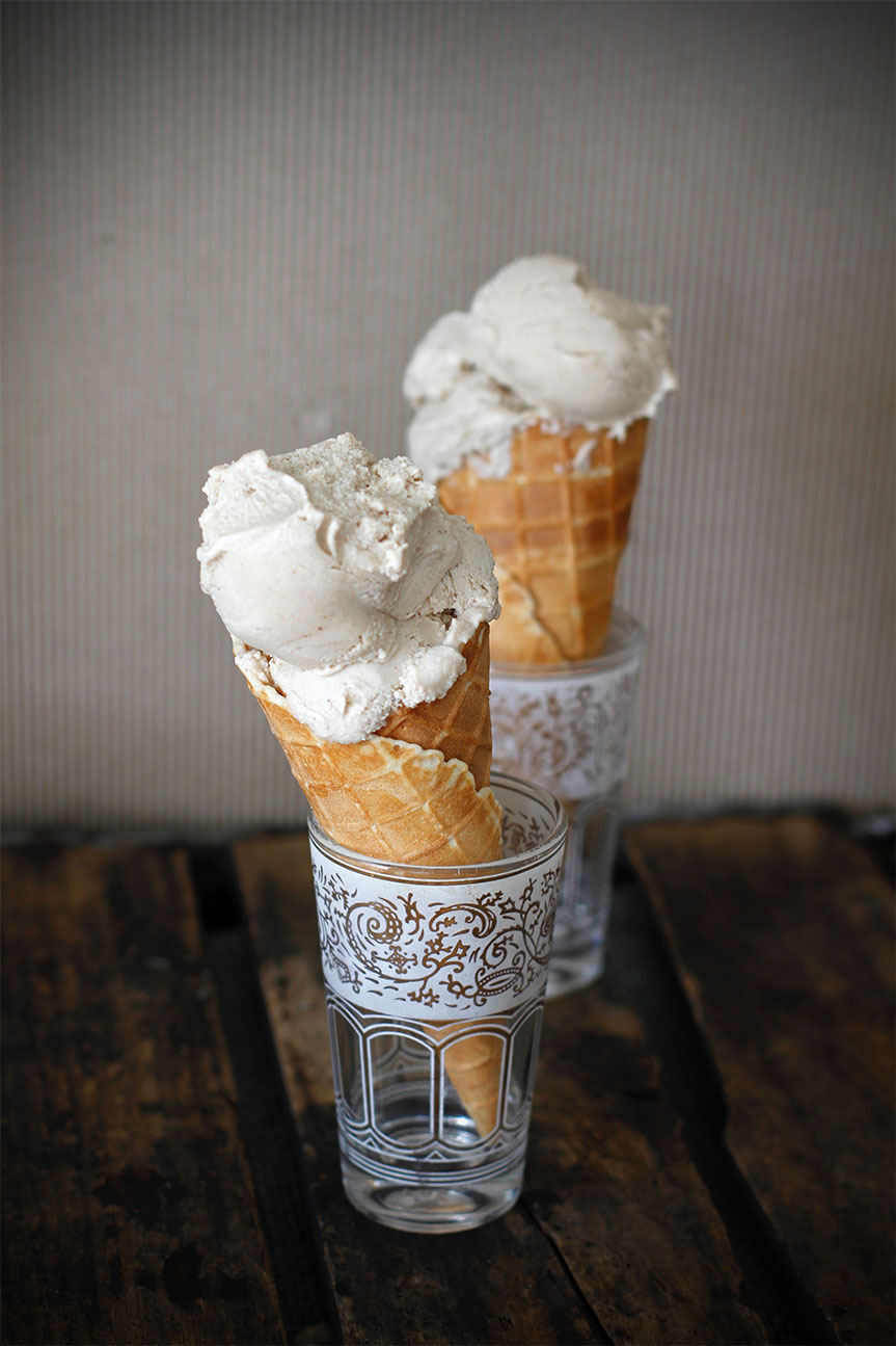 Ice cream and sugar cones