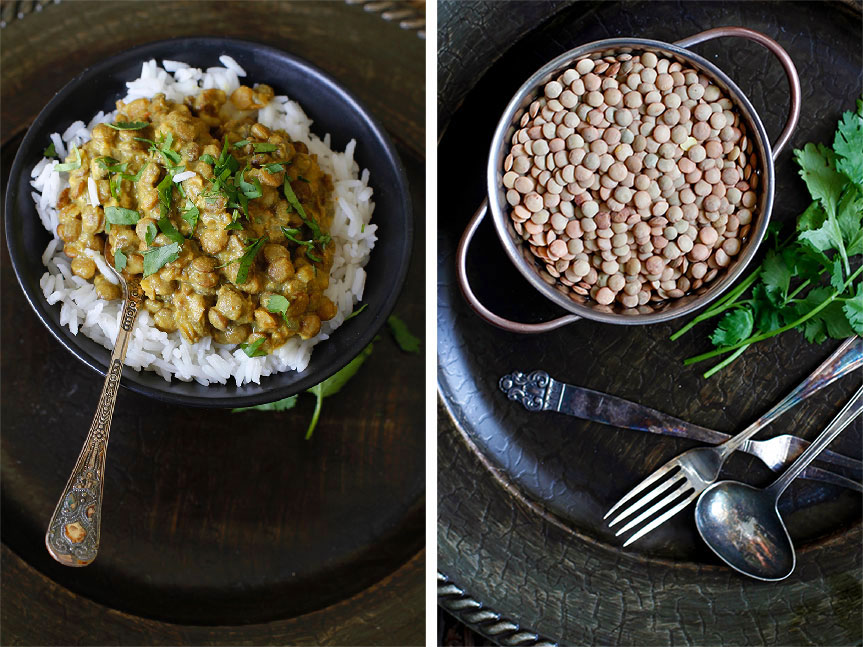 Vegetarian lentil curry