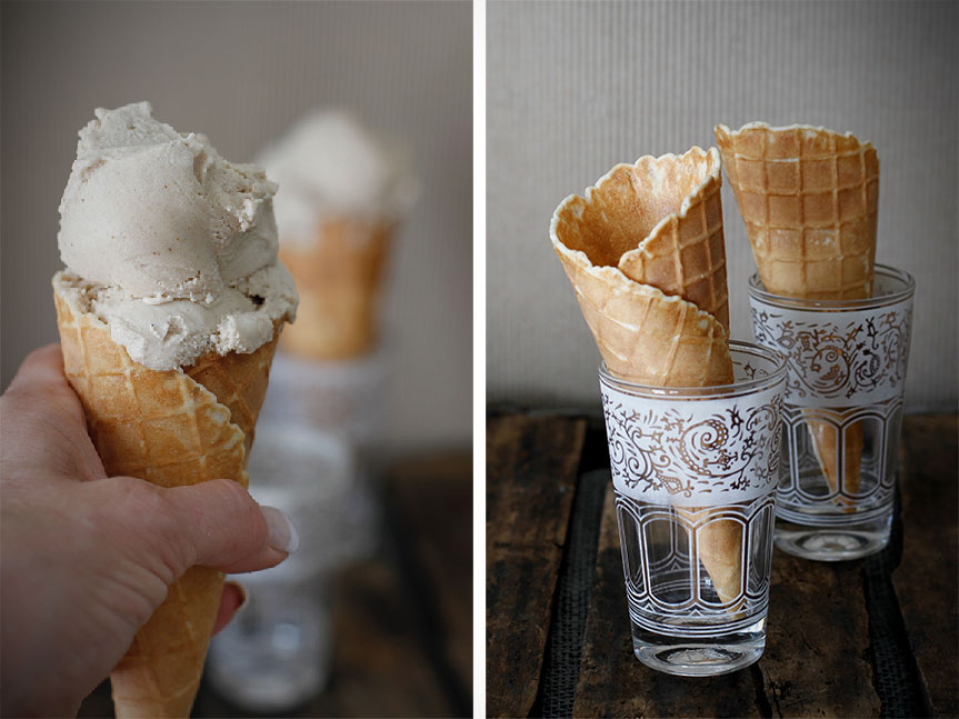 Chai ice cream vegan