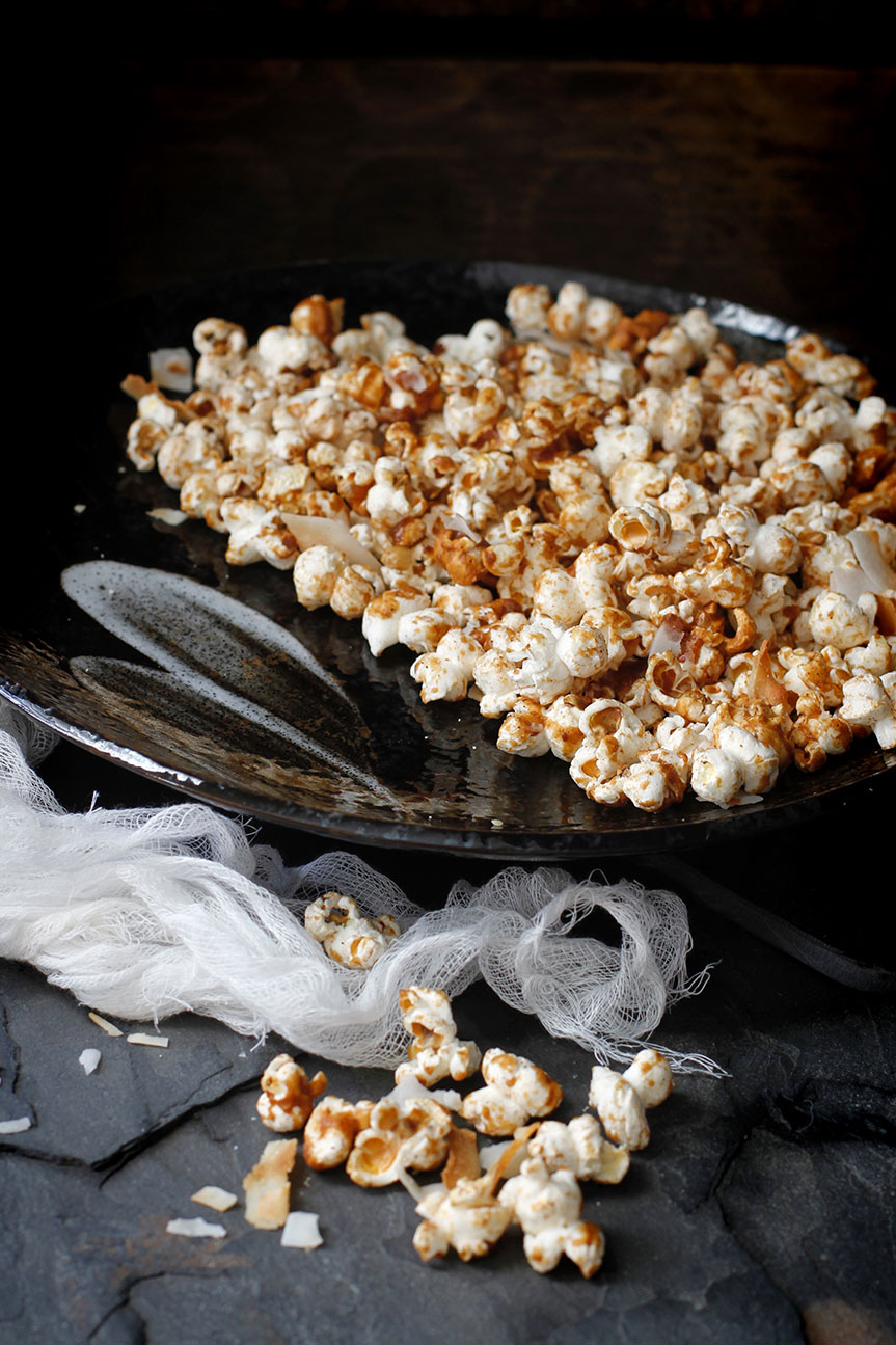 Healthy Coconut and cinnamon popcorn