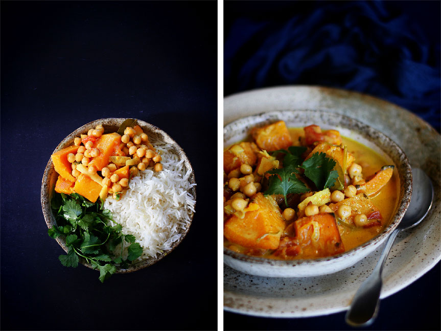 Pumpkin and Chickpea Korma