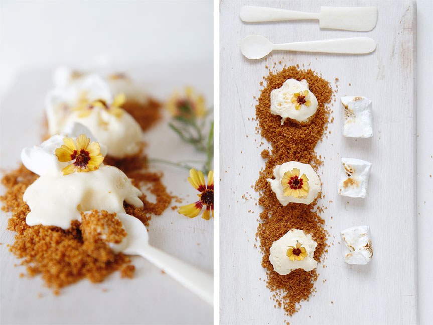 Citrus marshmallow sundae