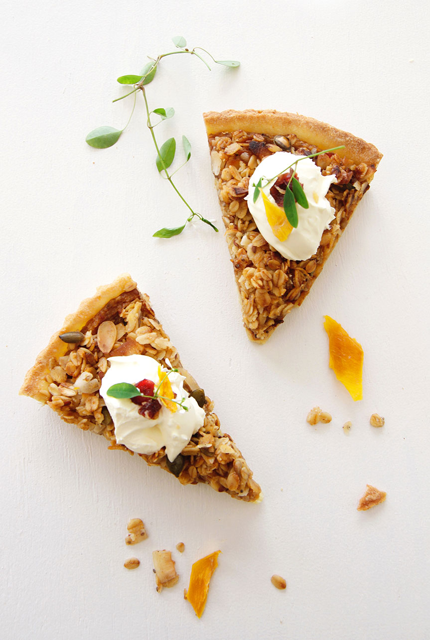 Breakfast muesli tart