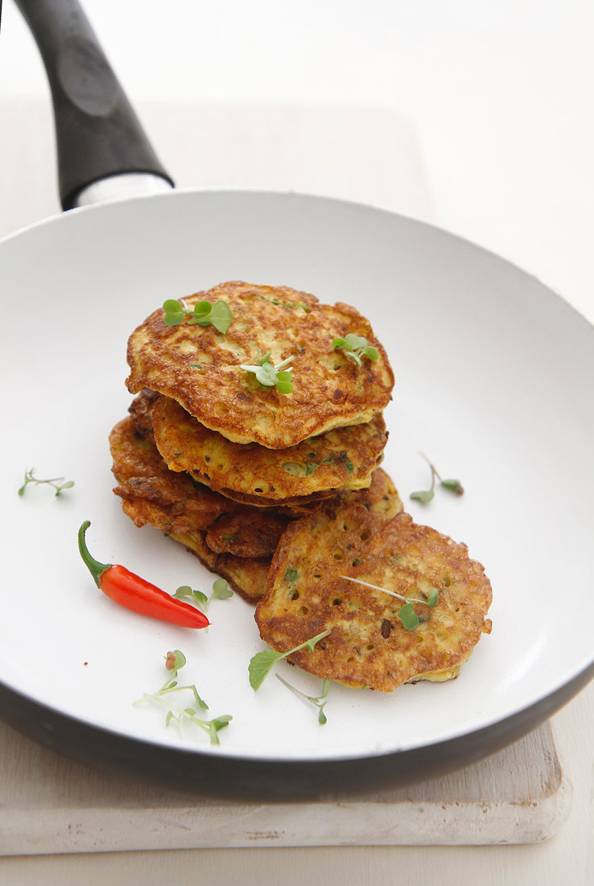 Cooked vegetable fritters