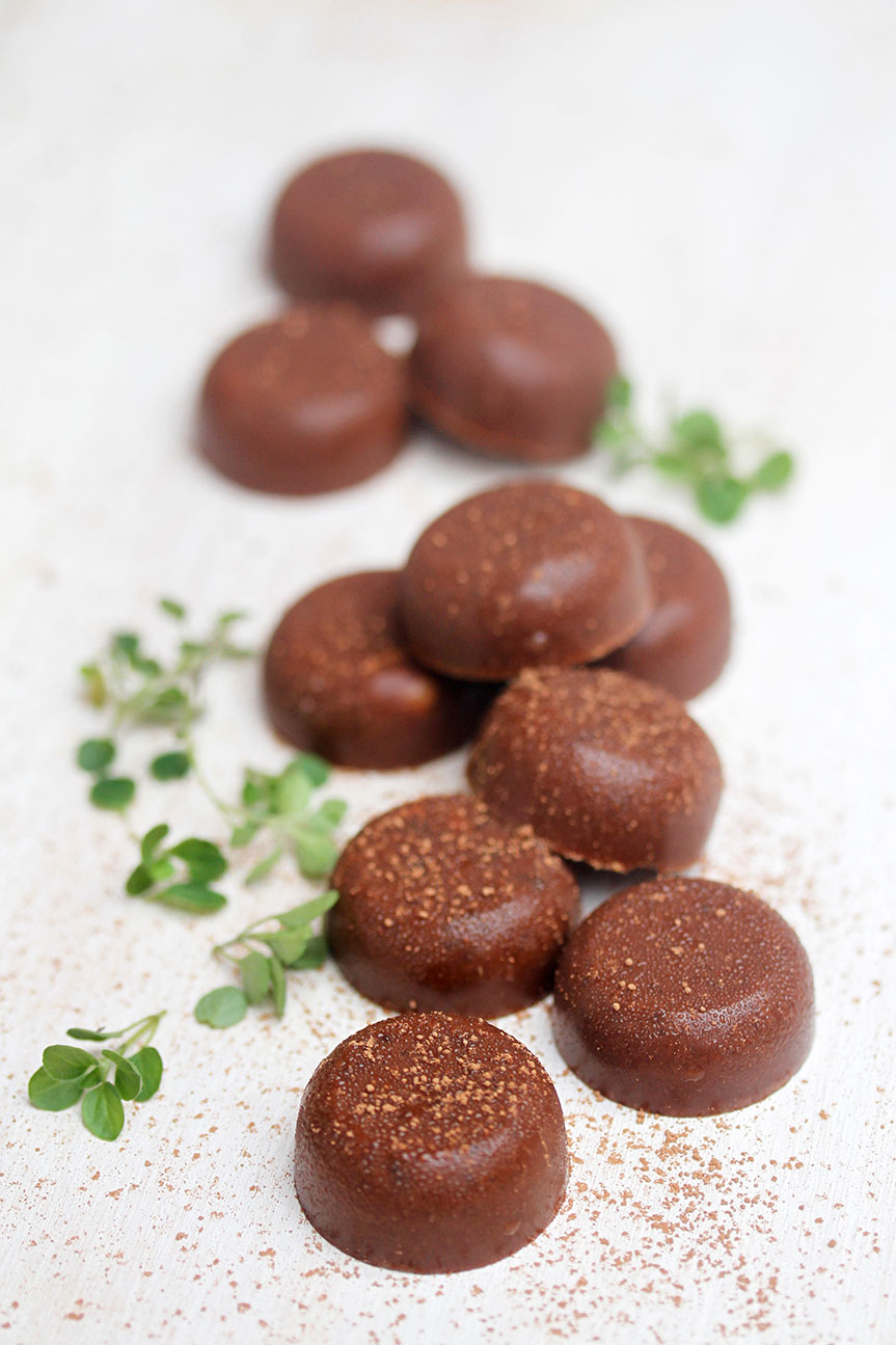Healthy nut butter chocolates