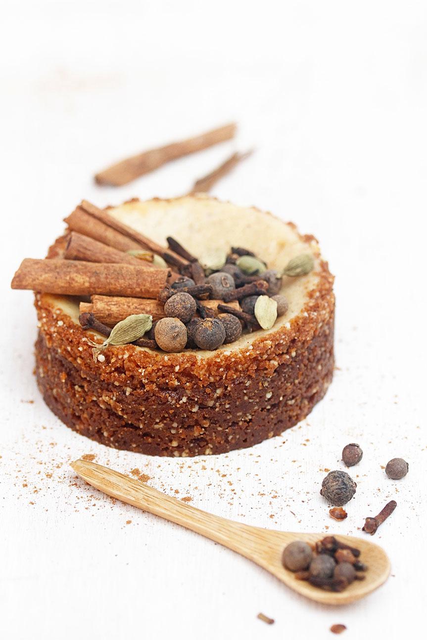 Chai spiced cheesecake