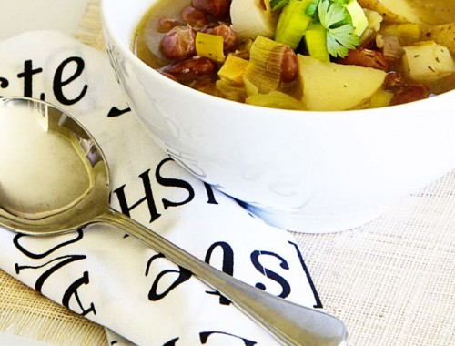 Patrick Holford's leek and bean soup