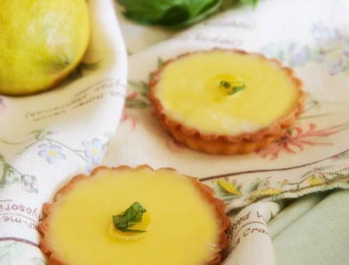 Lemon and basil tarts