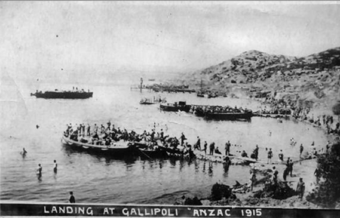 Gallipoli landing 1915
