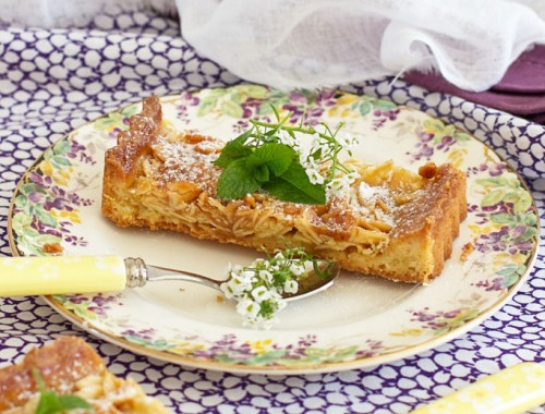 Almond tart sliced