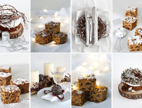 Christmas Cake tray bake shades of cinnamon