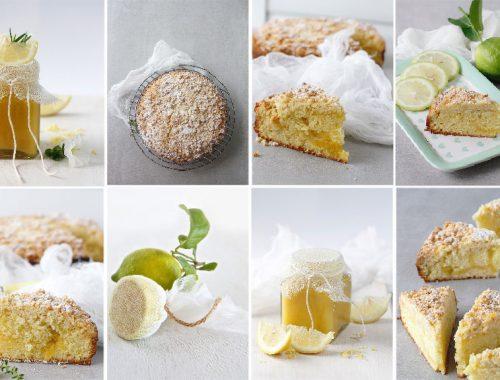 Coffee cake with lemon curd