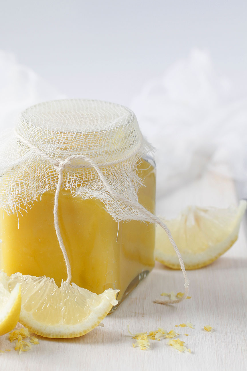 Lemon curd in a bottle