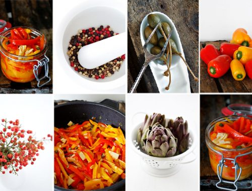 Easy Pickled sweet peppers