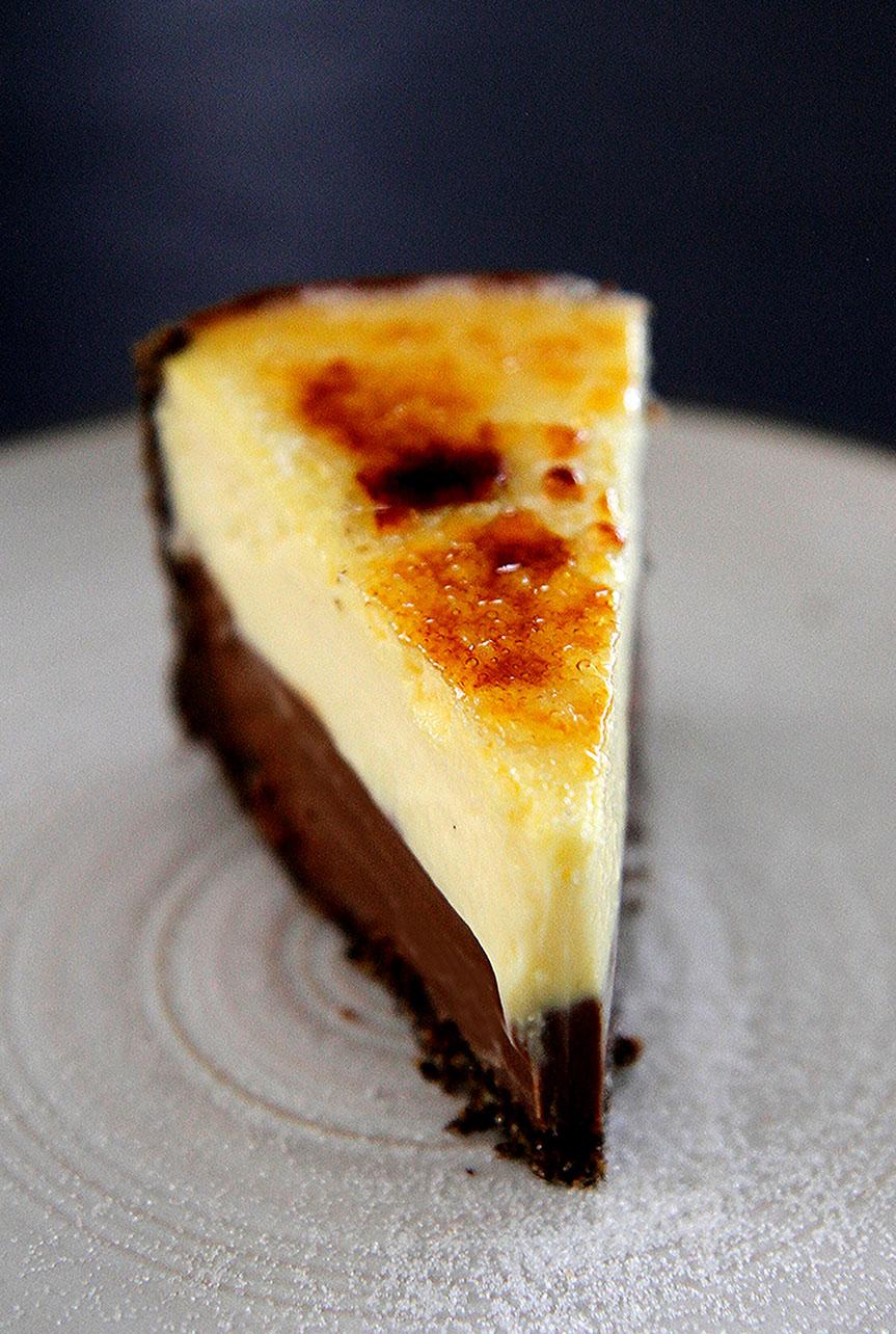 Vanilla and Chocolate Cheesecake