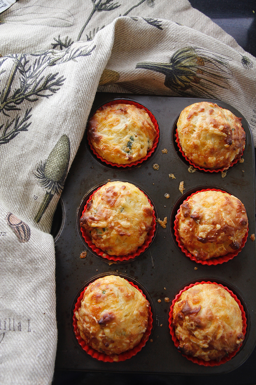 Easiest cheese muffins