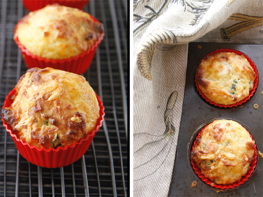 The quickest cheese muffins